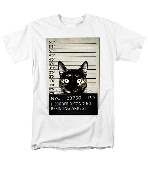 Kitty Mugshot Men's T-Shirt  (Regular Fit) by Nicklas Gustafsson