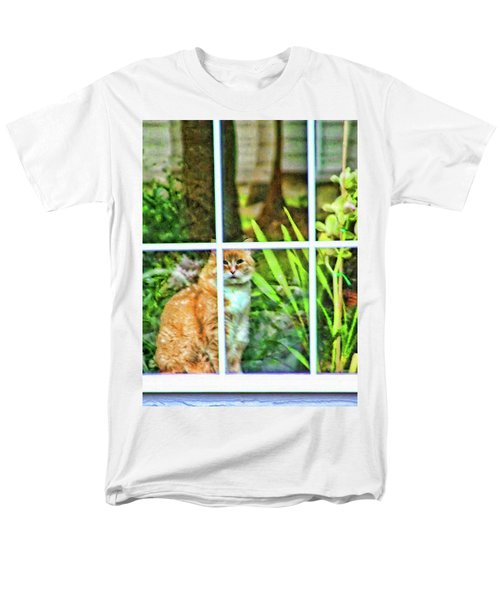 Men's T-Shirt  (Regular Fit) featuring the photograph Kitty Reflections by Wendy McKennon