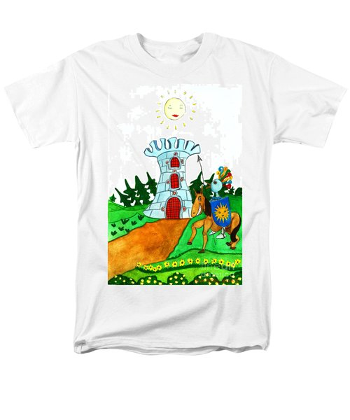 Brave Knight-errant And His Funny Wise Horse Men's T-Shirt  (Regular Fit) by Don Pedro De Gracia
