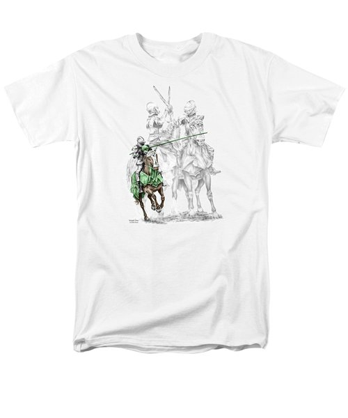 Knight Time - Renaissance Medieval Print Color Tinted Men's T-Shirt  (Regular Fit) by Kelli Swan