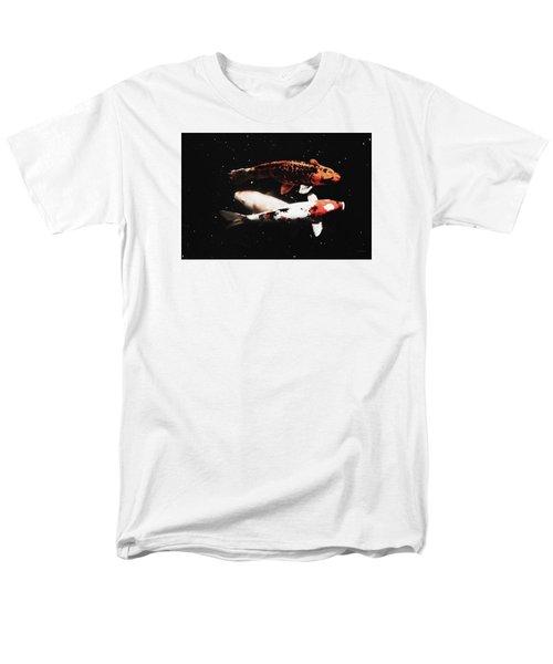 Men's T-Shirt  (Regular Fit) featuring the photograph Koi Trio  by Deborah  Crew-Johnson