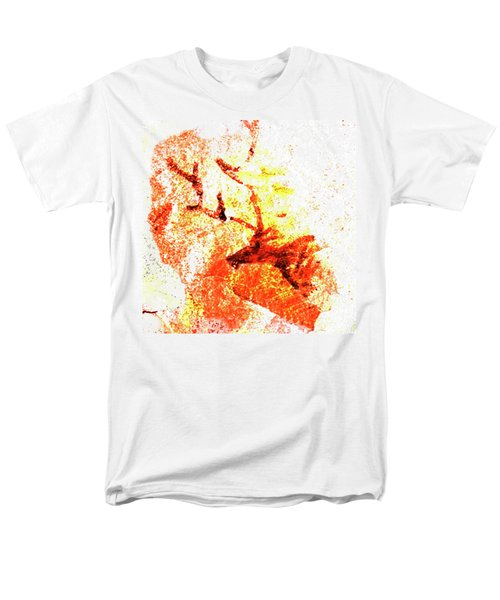 Men's T-Shirt  (Regular Fit) featuring the digital art Kondane Deer by Asok Mukhopadhyay