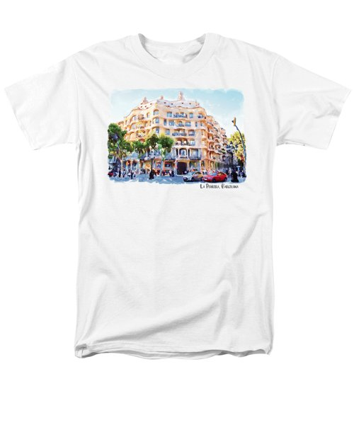 La Pedrera Barcelona Men's T-Shirt  (Regular Fit) by Marian Voicu