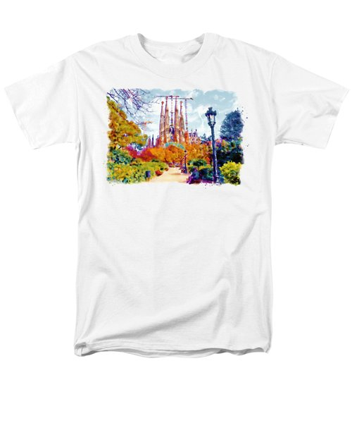 La Sagrada Familia - Park View Men's T-Shirt  (Regular Fit) by Marian Voicu
