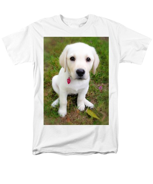Men's T-Shirt  (Regular Fit) featuring the photograph Lab Puppy by Stephen Anderson