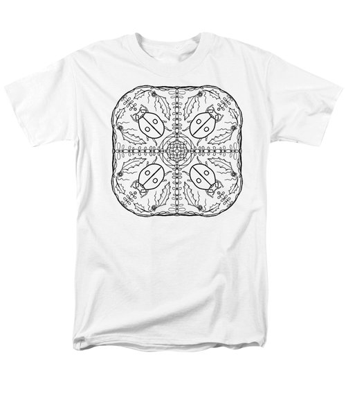 Ladybug Mandala Men's T-Shirt  (Regular Fit) by Tanya Provines
