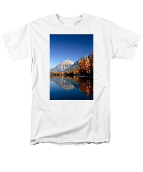 Lake Mcdonald Autumn Men's T-Shirt  (Regular Fit) by Lawrence Boothby