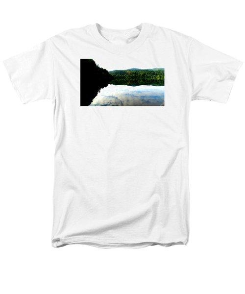 Lake Padden Cloud Reflection Men's T-Shirt  (Regular Fit) by Karen Molenaar Terrell