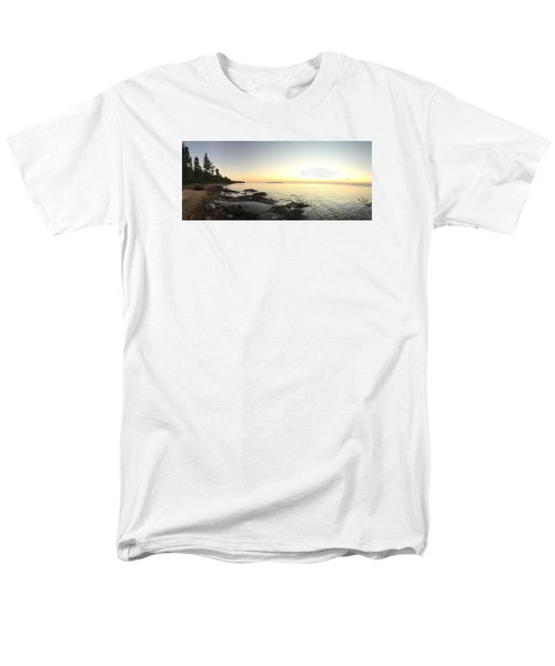 Men's T-Shirt  (Regular Fit) featuring the photograph Lake Superior Evening Sky by Paula Brown