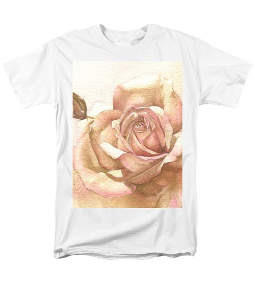 Men's T-Shirt  (Regular Fit) featuring the painting Lalique Rose by Sandra Phryce-Jones