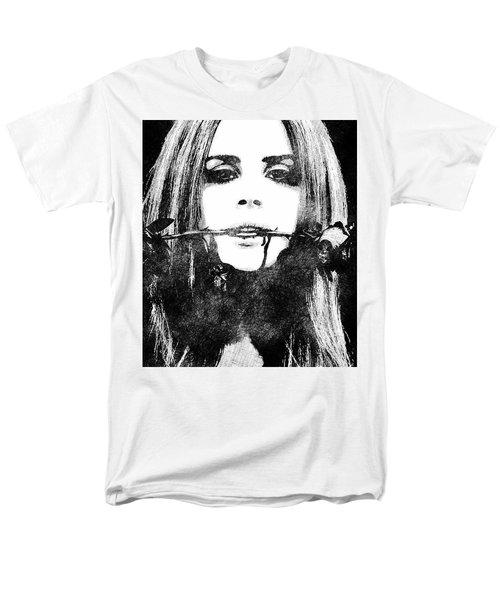 Lana Del Rey Bw Portrait Men's T-Shirt  (Regular Fit) by Mihaela Pater