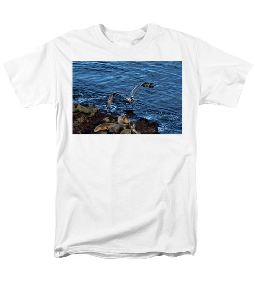 Landing Fly-by Men's T-Shirt  (Regular Fit) by James David Phenicie