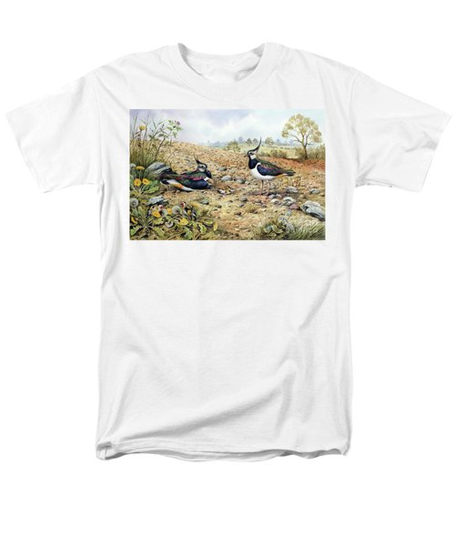 Lapwing Family With Goldfinches Men's T-Shirt  (Regular Fit) by Carl Donner