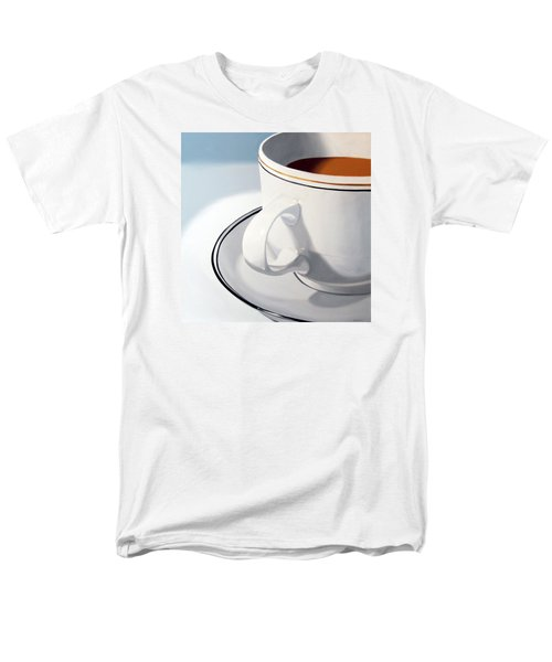 Large Coffee Cup Men's T-Shirt  (Regular Fit) by Mark Webster