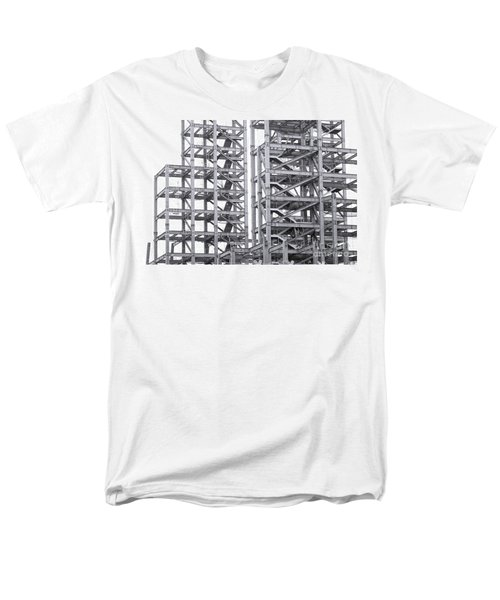 Men's T-Shirt  (Regular Fit) featuring the photograph Large Scale Construction Project With Steel Girders by Yali Shi