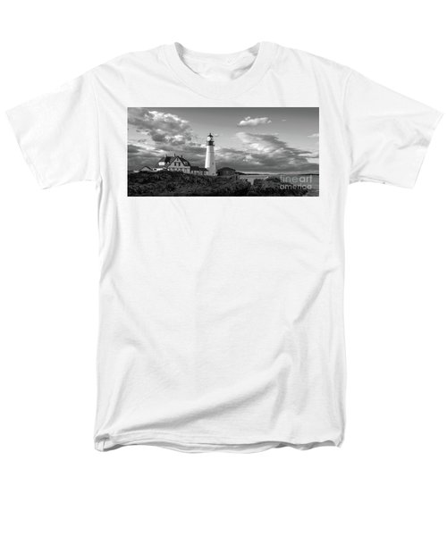 Men's T-Shirt  (Regular Fit) featuring the photograph Late Afternoon Clouds, Portland Head Light  -98461 by John Bald