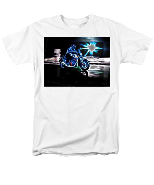 Men's T-Shirt  (Regular Fit) featuring the digital art Late Night Street Racing by Maciek Froncisz