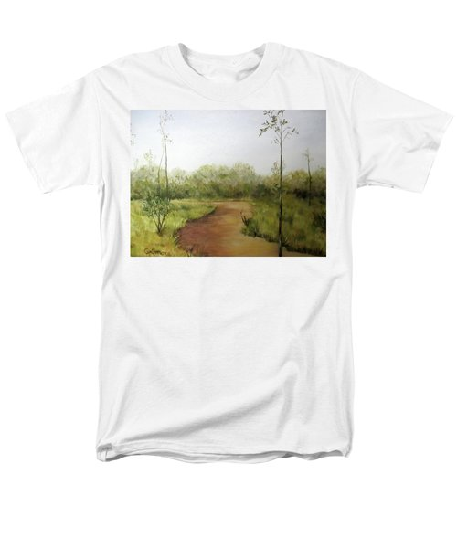 Men's T-Shirt  (Regular Fit) featuring the painting Late Summer Walk by Roseann Gilmore