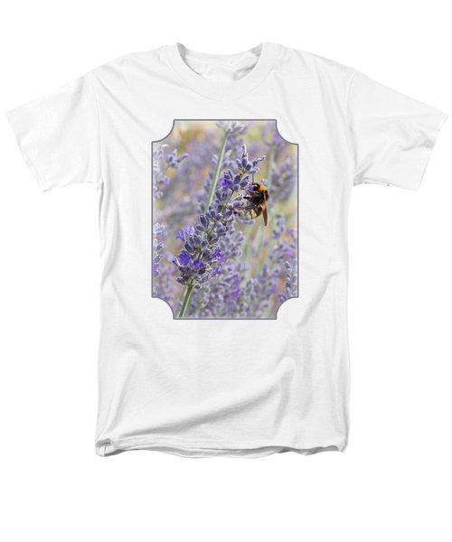 Lavender Bee Men's T-Shirt  (Regular Fit) by Gill Billington
