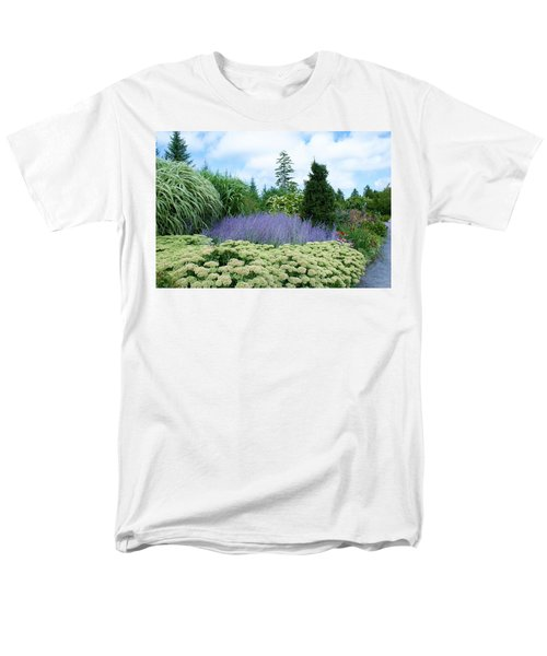 Men's T-Shirt  (Regular Fit) featuring the photograph Lavender In The Middle by Lois Lepisto
