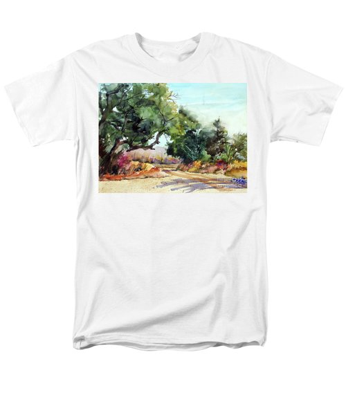 Men's T-Shirt  (Regular Fit) featuring the painting Lbj Grasslands Tx by Ron Stephens