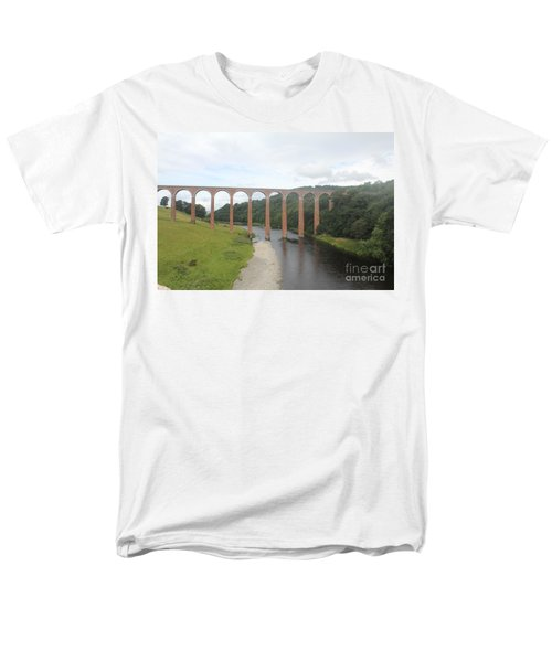 Men's T-Shirt  (Regular Fit) featuring the photograph Leaderfoot Viaduct by David Grant