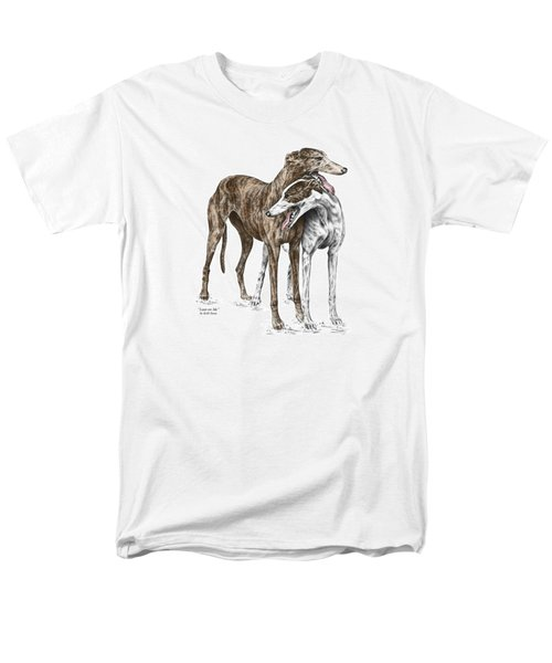 Lean On Me - Greyhound Dogs Print Color Tinted Men's T-Shirt  (Regular Fit) by Kelli Swan