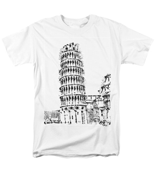 Leaning Tower Of Pisa Men's T-Shirt  (Regular Fit) by ISAW Gallery