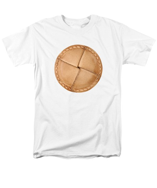 Leather Button Men's T-Shirt  (Regular Fit) by Michal Boubin