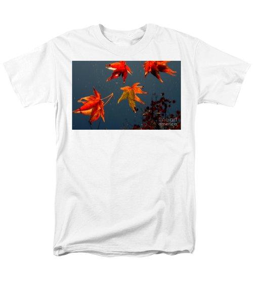 Leaves Falling Down Men's T-Shirt  (Regular Fit) by Marie Neder