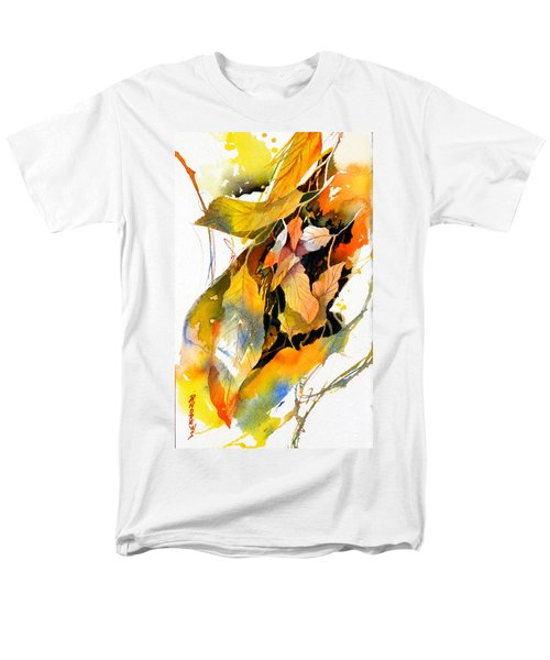 Men's T-Shirt  (Regular Fit) featuring the painting Leaves by Rae Andrews