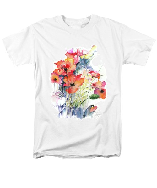 Men's T-Shirt  (Regular Fit) featuring the painting Leaving The Shadow by Anna Ewa Miarczynska