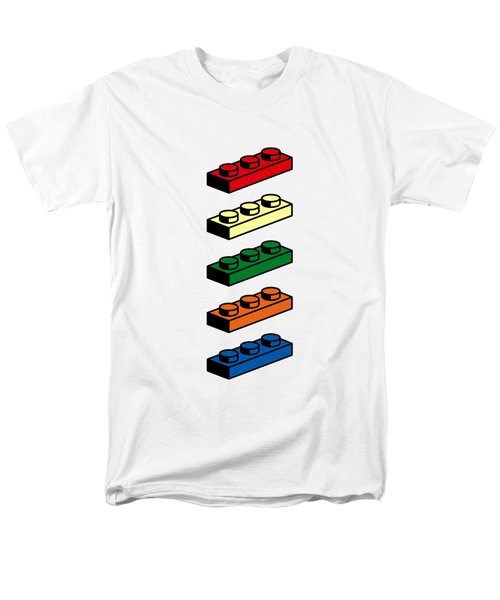 Men's T-Shirt  (Regular Fit) featuring the photograph Lego T-shirt Pop Art by Edward Fielding