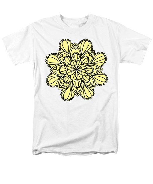 Lemon Lily Mandala Men's T-Shirt  (Regular Fit) by Georgiana Romanovna