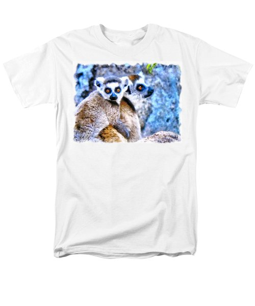 Men's T-Shirt  (Regular Fit) featuring the painting Lemurs Of Madagascar by Maciek Froncisz