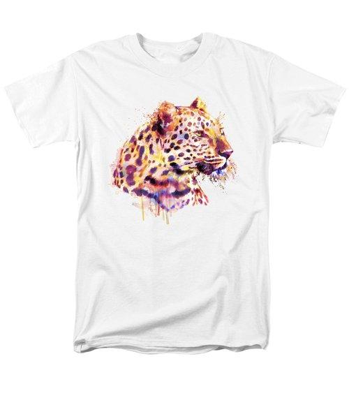 Leopard Head Men's T-Shirt  (Regular Fit) by Marian Voicu