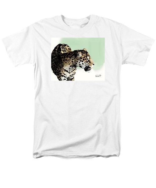 Men's T-Shirt  (Regular Fit) featuring the digital art Leopard by Walter Chamberlain