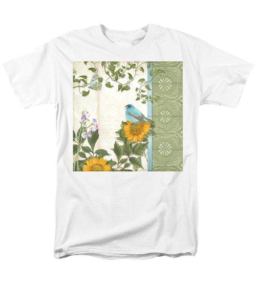 Les Magnifiques Fleurs Iv - Secret Garden Men's T-Shirt  (Regular Fit) by Audrey Jeanne Roberts