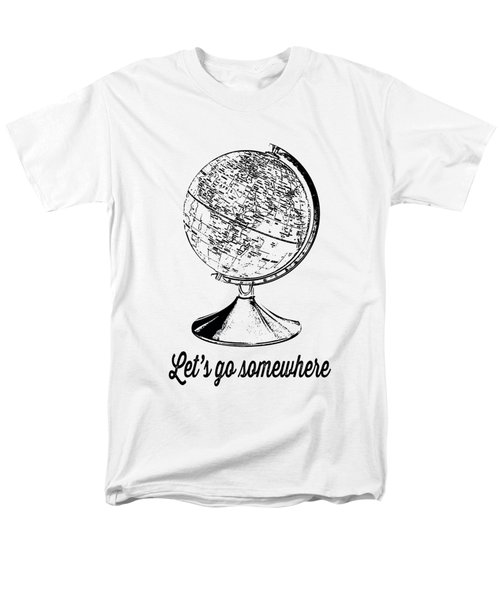 Let's Go Somewhere Tee Men's T-Shirt  (Regular Fit) by Edward Fielding