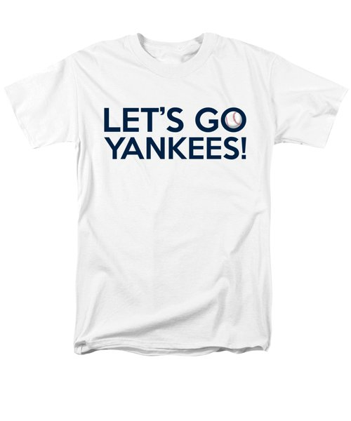 Let's Go Yankees Men's T-Shirt  (Regular Fit) by Florian Rodarte