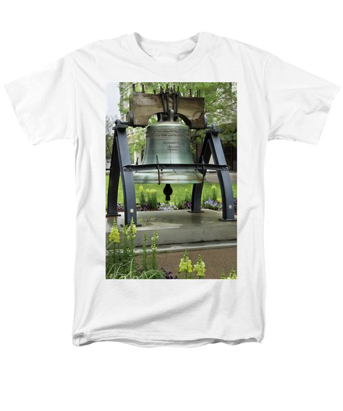 Men's T-Shirt  (Regular Fit) featuring the photograph Liberty Bell Replica by Mike Eingle