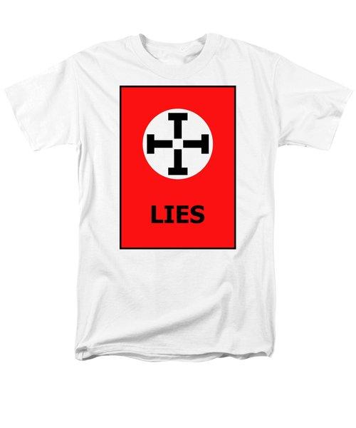 Lies Men's T-Shirt  (Regular Fit) by Richard Reeve