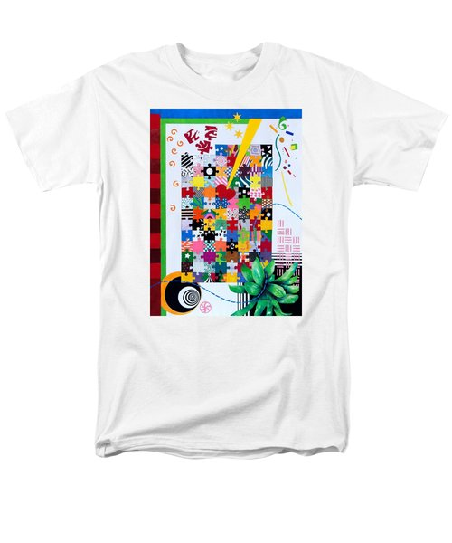 Life Is A Puzzle Men's T-Shirt  (Regular Fit) by Thomas Gronowski