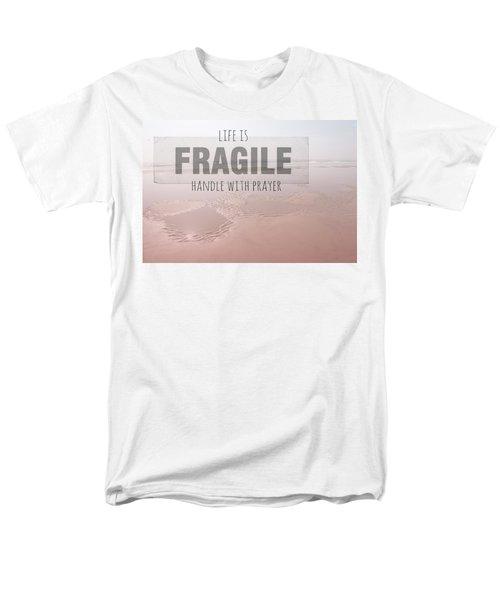 Life Is Fragile Men's T-Shirt  (Regular Fit) by Bonnie Bruno