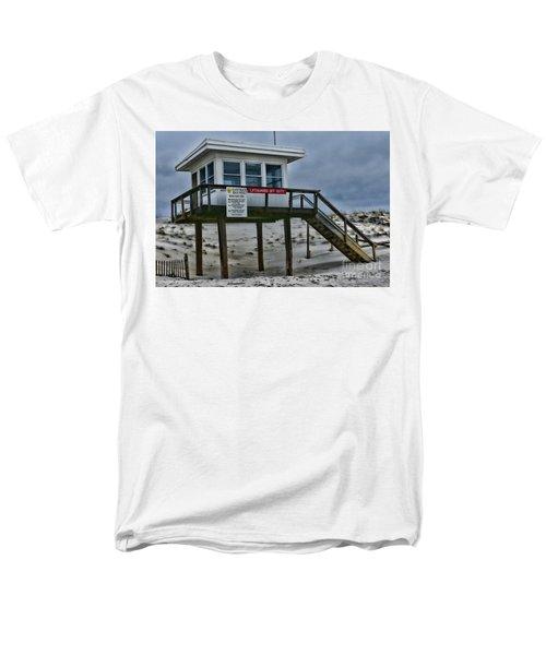 Lifeguard Station 1 Men's T-Shirt  (Regular Fit) by Paul Ward