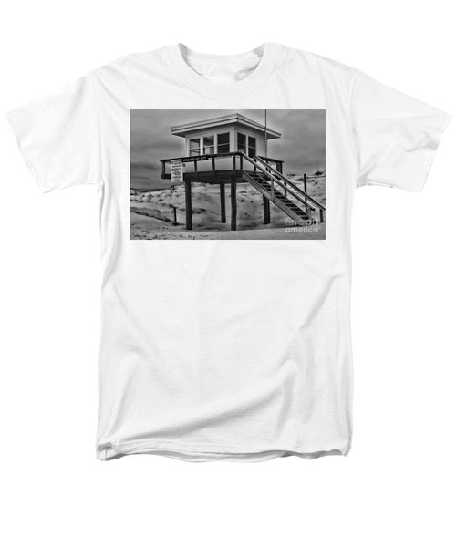 Lifeguard Station 2 In Black And White Men's T-Shirt  (Regular Fit) by Paul Ward