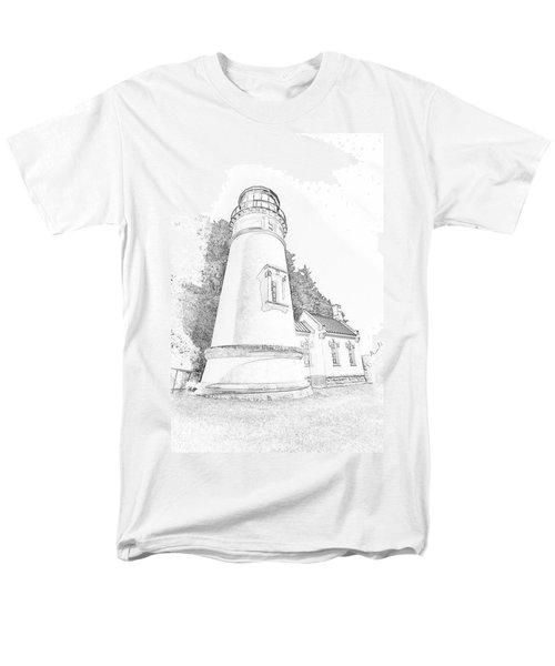Lighthouse In Oregon Men's T-Shirt  (Regular Fit)
