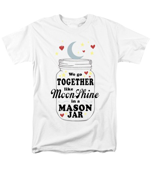 Like Moonshine In A Mason Jar Men's T-Shirt  (Regular Fit) by Heather Applegate