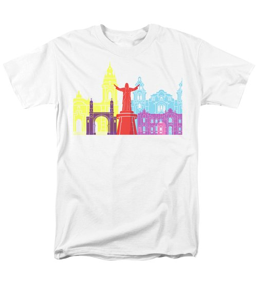 Lima Skyline Pop Men's T-Shirt  (Regular Fit) by Pablo Romero