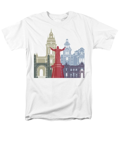 Lima Skyline Poster Men's T-Shirt  (Regular Fit) by Pablo Romero